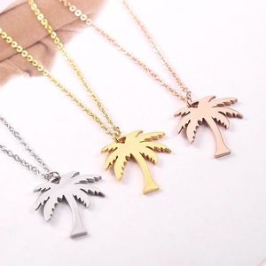 Palm tree 🌴 necklace 18k gold vacuum plated